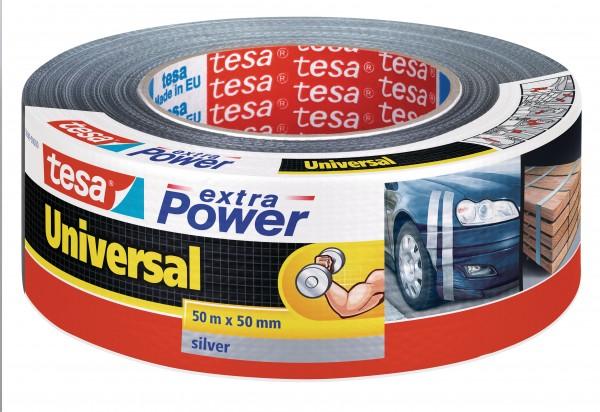 tesa® extra power Universal Reparaturband, silber, 50m x 50mm