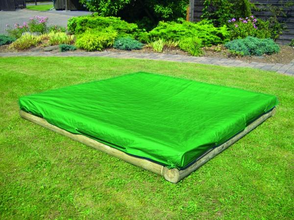 Sandkastenabdeckung, PE Gewebeplane 140g/m², grün, mit elastischer Kordel B 225 x T 255 cm