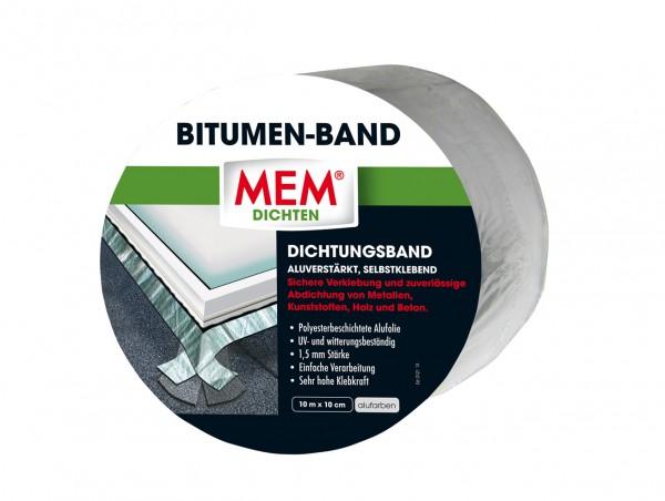 MEM Bitumen-Band 10m x 10cm alu