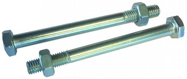 Durchgangsschraube m. Mutter M 10 x 110 mm, inkl. Scheiben Paket á 2 Stück, Stahlverzinkt