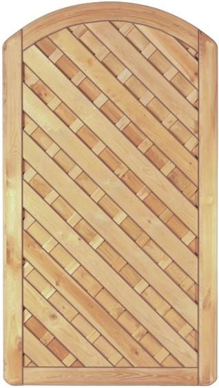 Maxi-Diagonal-Bogen-Serie Tor o.Beschlag grün, 100 x 180 cm Rahmen 45/90 mm, ohne Beschlag, Lamellen