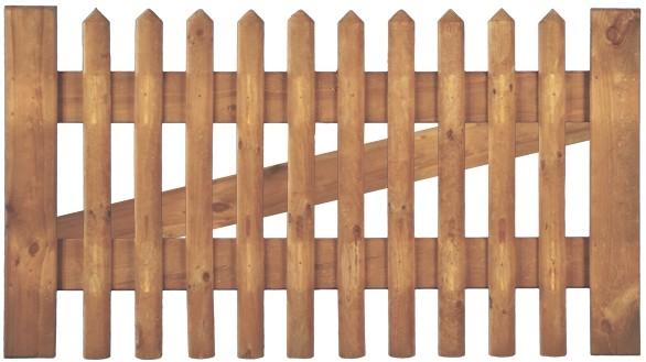 Tor f. Senkrechtzaun 300 x 80 cm Latten 55 mm, ohne Beschlag, ohne Pfosten