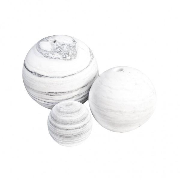Ball's white/grey 40 cm, gebohrt