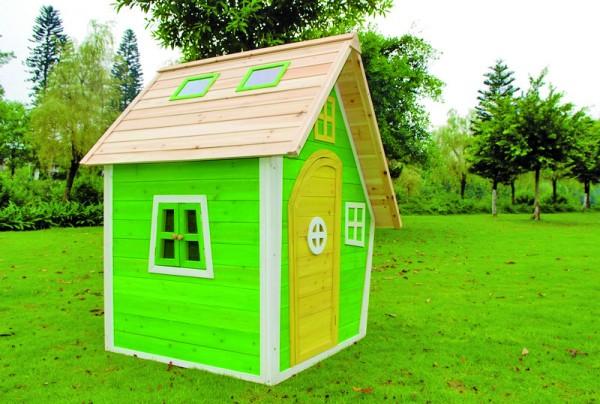 FRANZI-Kinderspielhaus 125 x 130 x 158 cm Fichte, teilw. farbig behandelt
