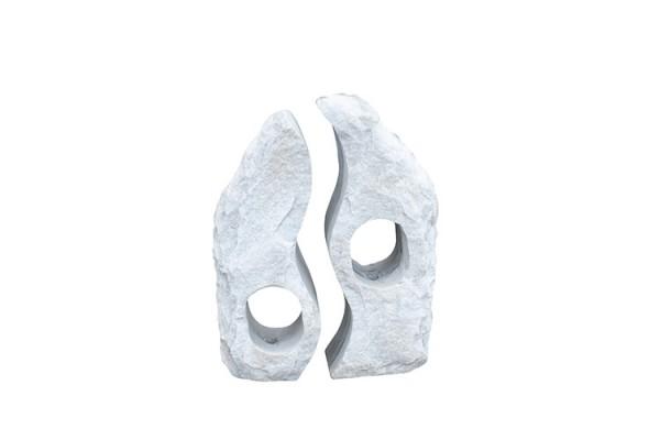 Twin Rocks grau, gebohrt,130 cm, gebohrt