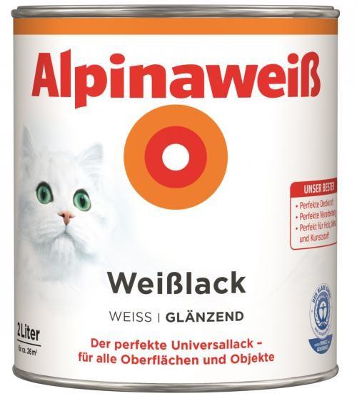 Alpinaweiß Weißlack glänzend 2 L