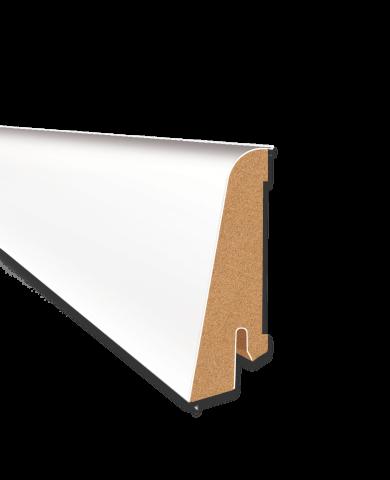 Dekorleiste Uni weiß 2500 x 58,5 x 20 mm