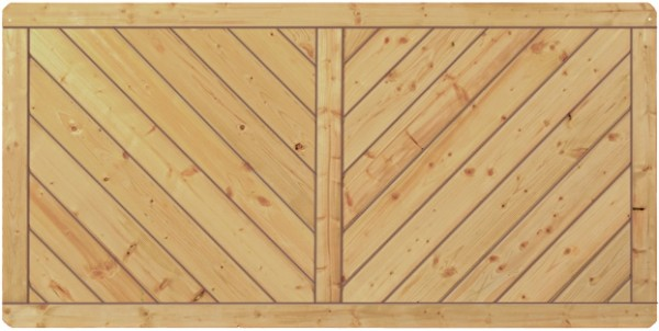 CLASSIC-Serie-Diagonal 180 x 90 cm Rahmen 40/70 mm, Profilbretter 16/118 mm