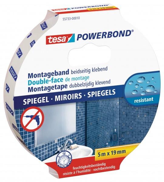 tesa Powerbond Montageband Spiegel, 5m x 19mm