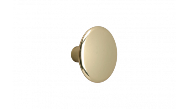 Möbelknopf Ø 30 mm, vermessingt, poliert