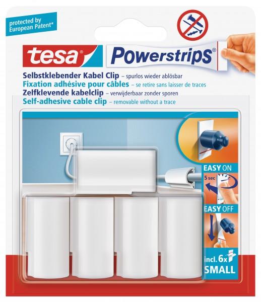 tesa Powerstrips® Kabel-Clips, weiß, 5 Stück