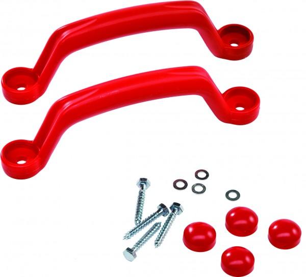 Handgriffe aus Kunststoff rot, 2 Stück/ Packung