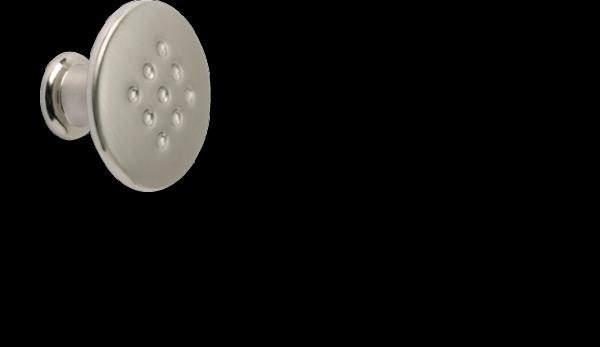 Möbelknopf 30 mm, Edelstahllook