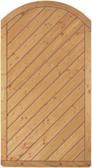 CLASSIC-Serie-Bogen Diagonal 100 x 180/160 cm Rahmen 40/70 mm, Profilbretter 16/118 mm