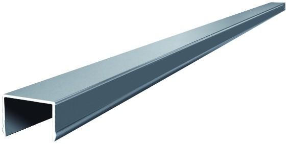 JILIN-Serie Alu-Abschlussprofil 180 cm, für WPC-Vorgartenzaun, 42 x 49 mm