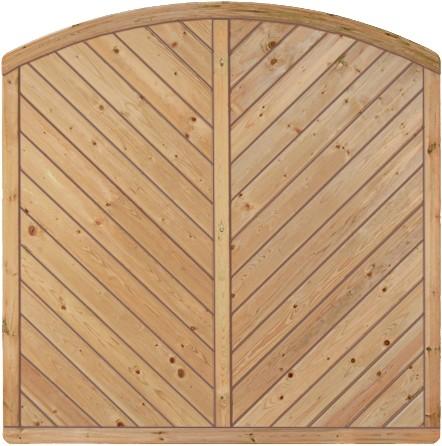 CLASSIC-Serie-Bogen Diagonal 180 x 180/160 cm Rahmen 40/70 mm, Profilbretter 16/118 mm
