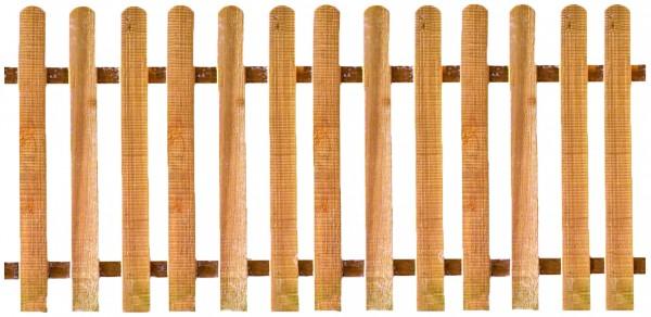 LUKA-Staketenzaun Eiche 200 x 100 cm, gerade, Latten 20/90 mm