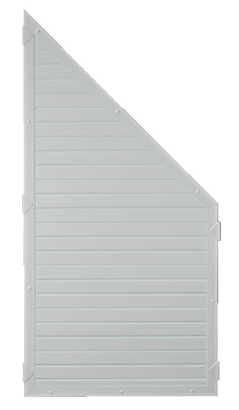 LIGHTLINE KS-Zaunelement ECKE 90 x 180/90 cm Füllung / Rahmen SILBERGRAU
