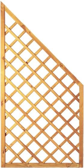 Diagonal-Rankzaun ECKE grün 10 x 10 cm 90 x 180/90 cm Rahmen 45/45 mm