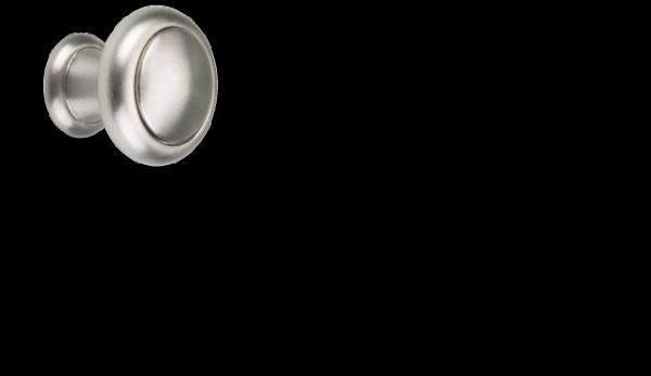 Möbelknopf Ø 25 mm, Edelstahllook