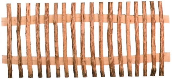 MARRE-Lattenzaun Haselnuss 180 x 80 cm Lattenabstand 6 cm, Querriegel halbrund