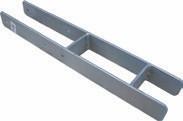 H-Pfostenträger, schwer - 141 mm feuerverzinkt, für Pfosten 14 x 14 cm