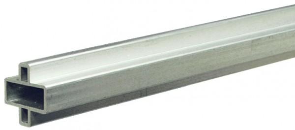 GOTLAND-Serie WPC-Steckzaunsystem Design-Zwischenleiste, 20 x 10 x 1795 mm, Aluminium SILBER