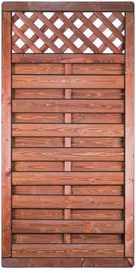 AMELIA-Serie, kastanie lasiert 90 x 180 cm, Rahmen 40/65 mm, Lamellen 8 x 95 mm gebürstet
