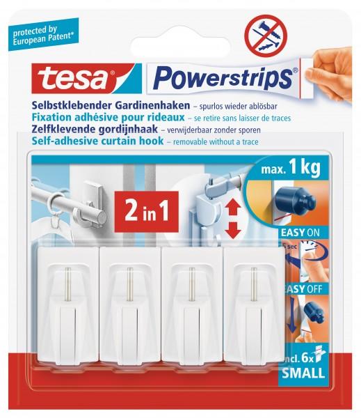tesa Powerstrips® Gardinenhaken, weiß, 2 Stück