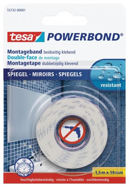 tesa Powerbond Montageband Spiegel, 1,5m x 19mm