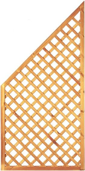 Diagonal-Rankzaun ECKE grün 6 x 6 cm 90 x 180/90 cm Rahmen 45/45 mm