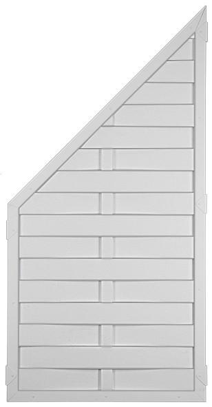 LIGHTLINE KS-LAMELLENZAUN 90 x 180/90 cm, ECKE Füllung / Rahmen WEISS