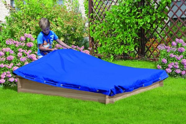 Abdeckplane für Sandkasten CONNI 150 x 150 PE-Gewebe 160 g/m² blau, mit elastischer Kordel