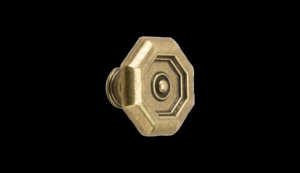 Möbelknopf Ø 30 mm, vermessingt, brüniert
